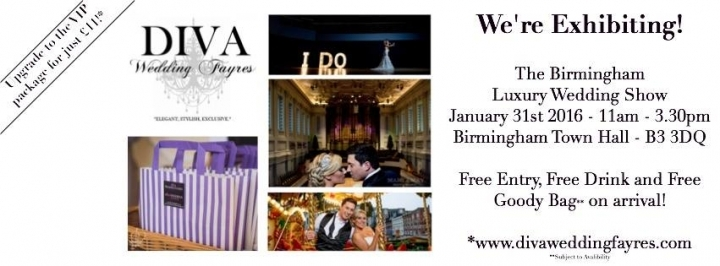 Wedding Fayre Birmingham Town Hall Sunday 31 January 2016